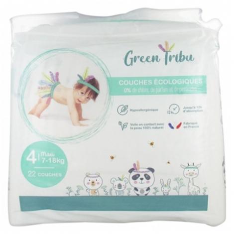 Green Tribu Couches Écologiques Bébé Maxi Taille 4 22 pièces pas cher, discount