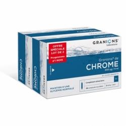 Granions de Chrome 200 µg 2 x 30 ampoules OFFRE SPÉCIALE