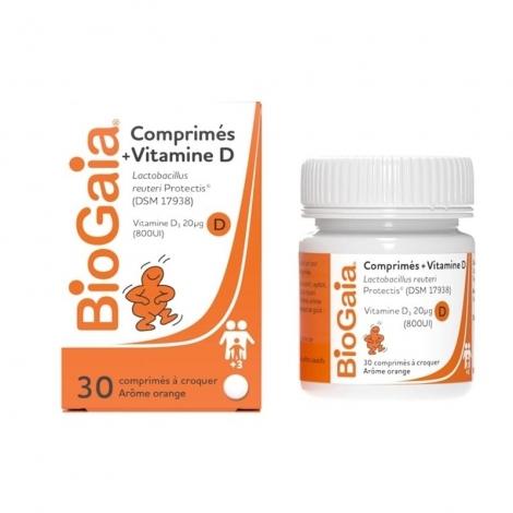 BioGaia Vitamine D Flore Intestinale Arôme Orange x30 Comprimés pas cher, discount