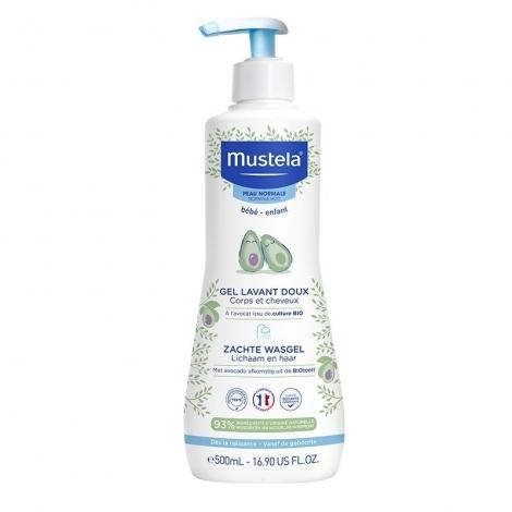 Mustela Gel Lavant Doux Corps et Cheveux 500ml pas cher, discount
