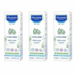 Mustela Pack Hydra Bébé Crème Visage 3 x 40ml