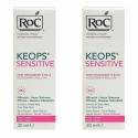 Roc Keops Sensitive Soin Déodorant à Bille Peau Fragile 48H 2 x 30ml