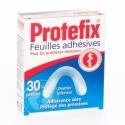 Protefix Feuilles Adhésives Dentier Inférieur 30 pièces