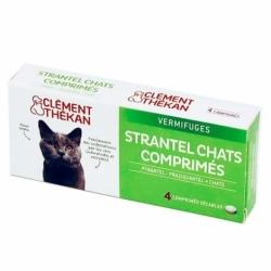 Clément Thékan Strantel Vermifuges Chats 4 Comprimés