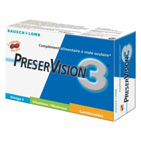 Bausch + Lomb PreserVision 3 Vitamine D 60 capsules pas cher, discount