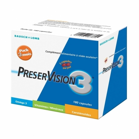 Bausch + Lomb PreserVision 3 Vitamine D 180 capsules pas cher, discount