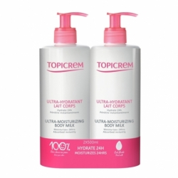 Topicrem Ultra-Hydratant Lait Corps 2 x 500ml