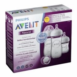 Philips Avent Natural 2.0 Kit Nouveau Né en Verre SCF301/01
