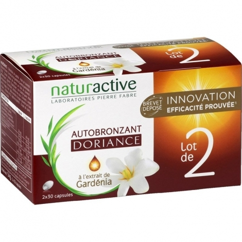 Naturactive Doriance Autobronzant Gardénia 2 x 30 capsules pas cher, discount