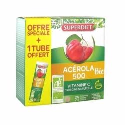 Superdiet Acérola 500 Bio 24+12 comprimés Offre Spéciale