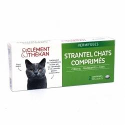Clément Thékan Strantel Vermifuges Chats 2 Comprimés