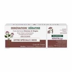 Klorane Kératine Cure De Force Cheveux et Ongles 3x30 Capsules