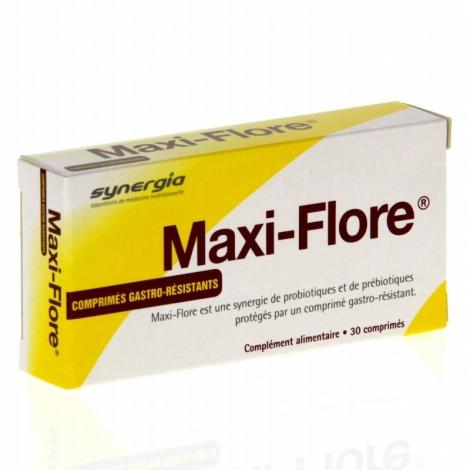 Synergia Maxi-flore Prébiotiques et Probiotiques 30 comprimés pas cher, discount