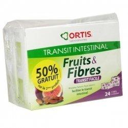 Fruits & fibres Ortis Transit Facile Lot de 2x24 Cubes