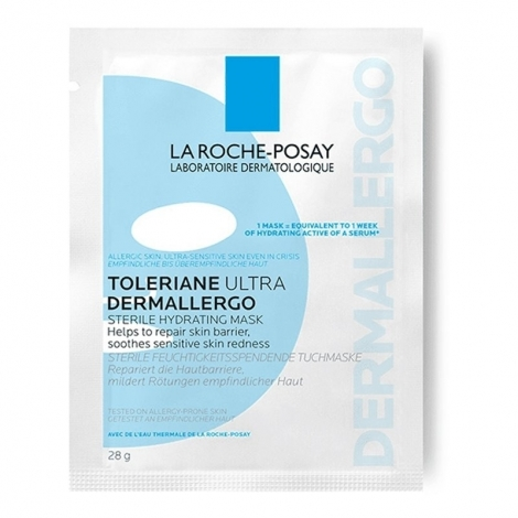 La Roche-Posay Toleriane Ultra Dermallergo Masque Tissu Stérile 1 pièce pas cher, discount