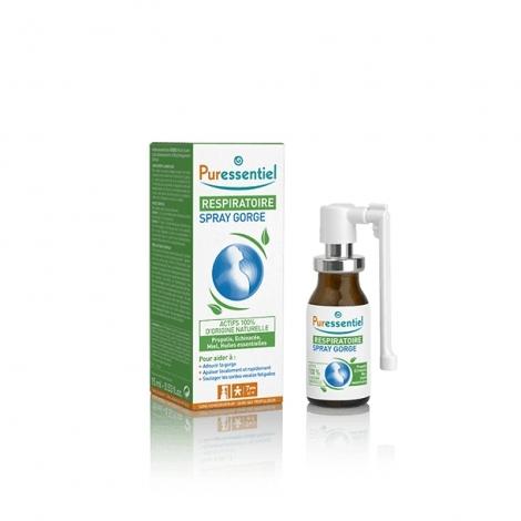 Puressentiel Respiratoire Spray Gorge Huiles Essentielles 15ml pas cher, discount