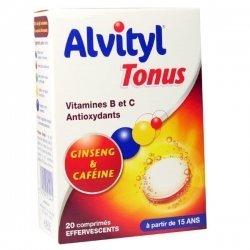 Alvityl Tonus Ginseng et Caféine 20 Comprimés Effervescents pas cher, discount
