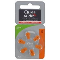 Quies Audio Piles Auditives 13 6 piles