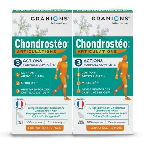 Granions Chondrostéo+ Articulations 2x180 comprimés pas cher, discount