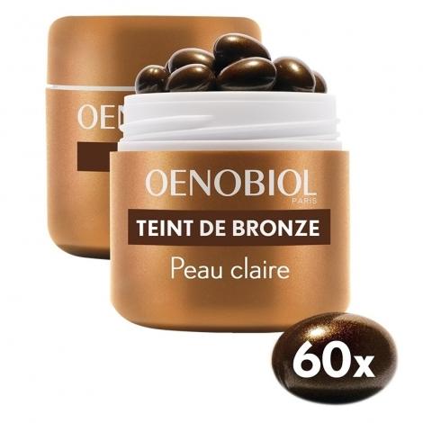 Oenobiol Teint de Bronze / Autobronzant Peau Claire 2 x 30 capsules OFFRE SPÉCIALE pas cher, discount
