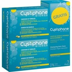 Cystiphane Biorga Cheveux & Ongles 2x120 comprimés + Shampooing Anti-chute OFFERT