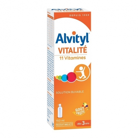 Alvityl Sirop 11 vitamines Forme Equilibre Vitalité 150 ml pas cher, discount