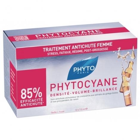 Phyto Phytocyane Traitement Anti-Chute Femme 12 ampoules de 7,5ml pas cher, discount