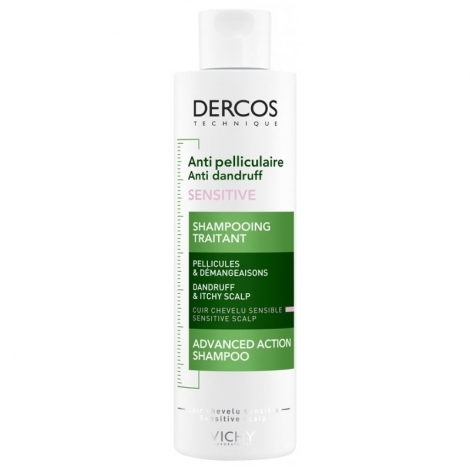 Vichy Dercos Shampooing Traitant Anti-Pelliculaire Sensitive 200ml pas cher, discount