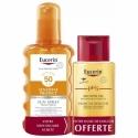 Eucerin Coffret Spray Solaire SPF50 200ml + Huile de douche 200ml OFFERTE