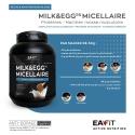 Eafit Milk & Egg 95+ 750G Goût Vanille