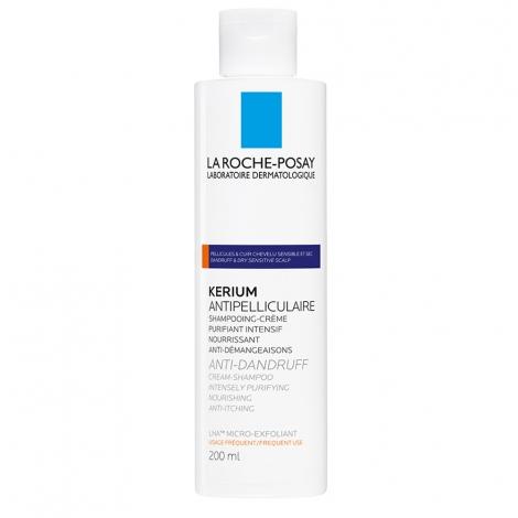 La Roche-Posay Kerium Anti-Pelliculaire Shampooing Creme Micro-Exfoliant 200 Ml pas cher, discount