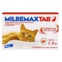 MilbemaxTab Vermifuge Spectre Large Chats de Plus de 2 kg 2 Comprimés