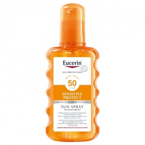 Eucerin Sun Protection Sensitive Protect Spray Solaire SPF50+ 200ml pas cher, discount