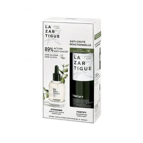 Lazartigue Coffret Anti-Chute Réactionelle Sérum Anti-Chute 50ml + Shampooing Fortifiant 250ml pas cher, discount