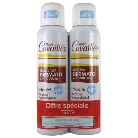 Rogé Cavailles Duo Déodorant Dermato Anti-Odeurs Spray 2x150ml pas cher, discount