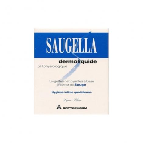 Saugella  Dermoliquide Boite De 10 Lingettes pas cher, discount