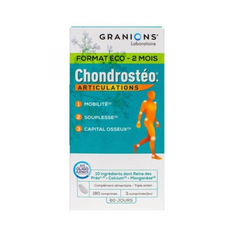 Granions Chondrostéo+ Articulations 180 comprimés pas cher, discount