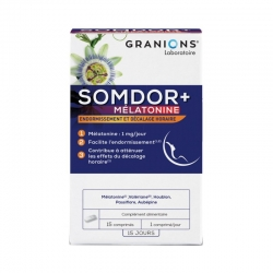 Granions Somdor+ Mélatonine 15 Comprimés