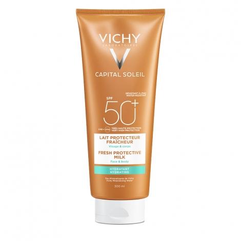 Vichy Ideal Soleil SPF 50+ Lait Hydratant Visage et Corps Peau Sensible 300ml pas cher, discount