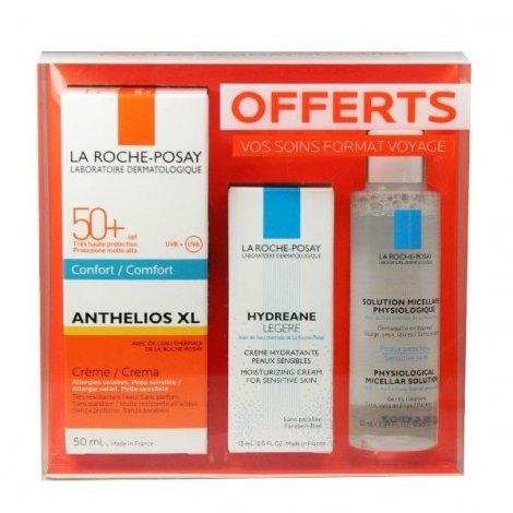 La Roche-Posay Anthelios Crème Solaire Spf 50+ Xl 50 Ml + OFFERT Hydreane Légère 15 ml et l'Eau Micellaire 50 ml pas cher, discount