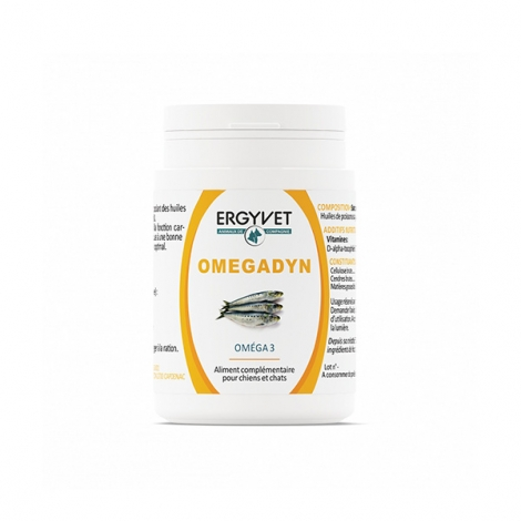 Ergyvet Omegadyn Oméga 3 60 capsules pas cher, discount