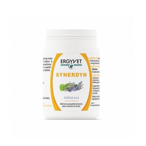 Ergyvet Synerdyn Oméga 3 & 6 60 capsules pas cher, discount