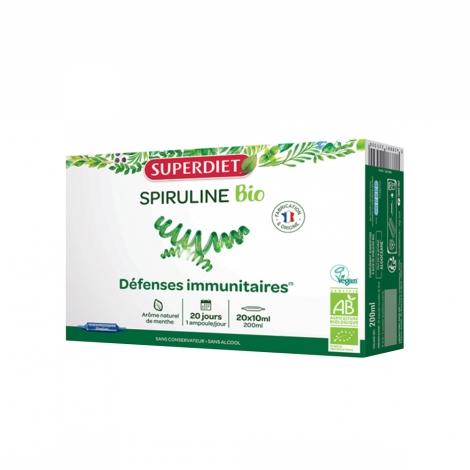 Superdiet Spiruline Bio 20 ampoules de 10ml pas cher, discount