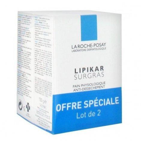 La Roche-Posay Lipikar Surgras Pain Physiologique Anti-Dessechement Lot 150 G X 2 pas cher, discount