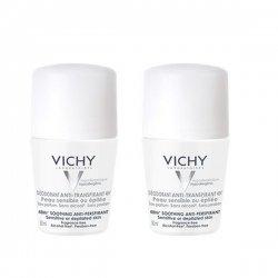 Vichy Déodorant Anti-Transpirant 48H Peau Très Sensible Ou Epilée Bille Lot 2 X 50 ml