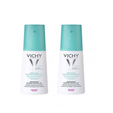 Vichy Déodorant Fraîcheur Extrême Spray 100 ml X 2 pas cher, discount