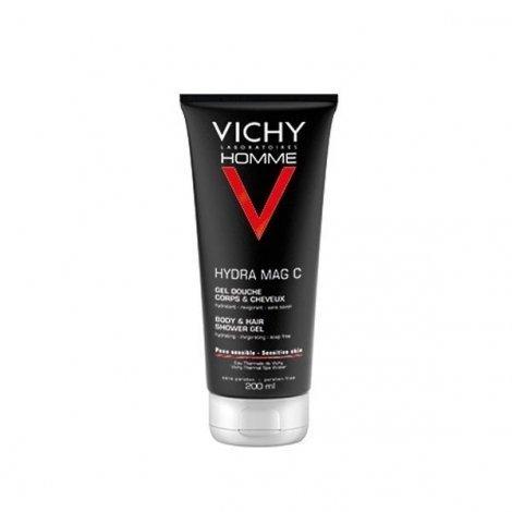 Vichy Homme Mag-C Gel Douche Hydratant Revigorant 200 ml pas cher, discount