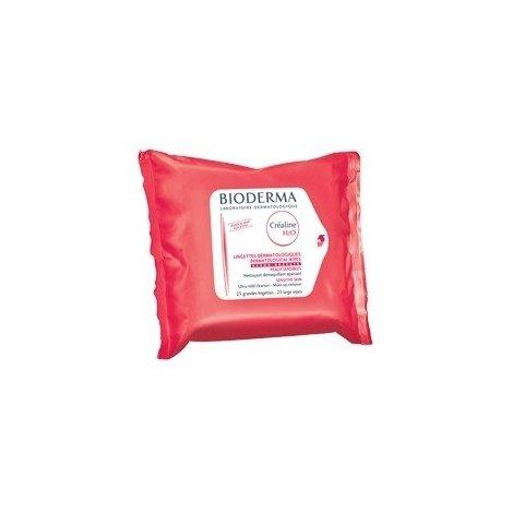 Bioderma Créaline H2O Lingettes Dermatologiques Nettoyant Demaquillant Peaux Sensibles Normales à Sèches X 25 pas cher, discount