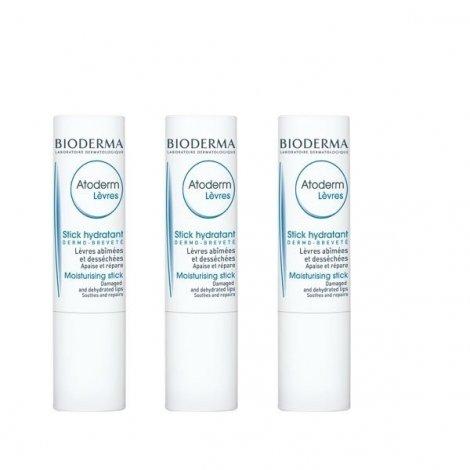 Bioderma Atoderm Stick Lèvres Lot de 3 pas cher, discount