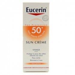 Eucerin Sun Creme Visage Spf 50+ Peau Seche 50ml